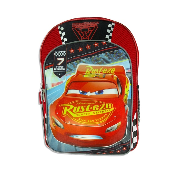 Disney Cars 3 Lightening McQueen Backpack Book Bag NWT